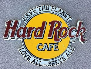 Hard Rock Cafe Rubber Refrigerator Magnet Save The Planet Love All Serve All