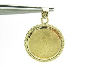 Standing-Lady-Liberty-5-Dollar-1-10-OZ-999-Fine-Gold-Coin-Bullion-Charm-Pendant