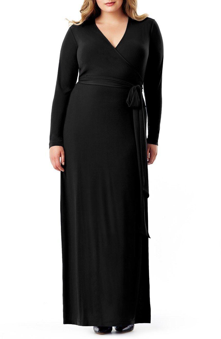Mynt 1792 Jersey Wrap Maxi Dress (Größe 16) - -