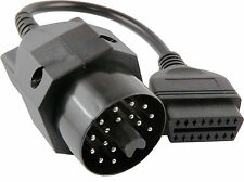 Diagnose Stecker Adapter OBD 2 auf OBD 1 16Pin zu 20Pin Kabel II BMW  Ediabas