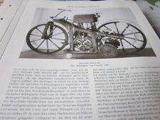 Motorrad Archiv Geschichte 1001 Das Erste Motorrad Reitwagen Daimler 1885