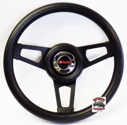 """1960-1969 GMC Pickup steering wheel 13 3//4/"""" BLACK SPOKE steering wheel"""
