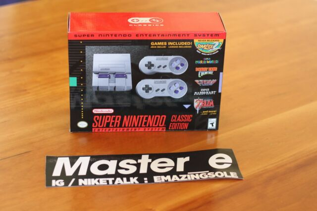 Super Nintendo Entertainment System SNES Classic Edition Mini IN HAND SHIPS NOW