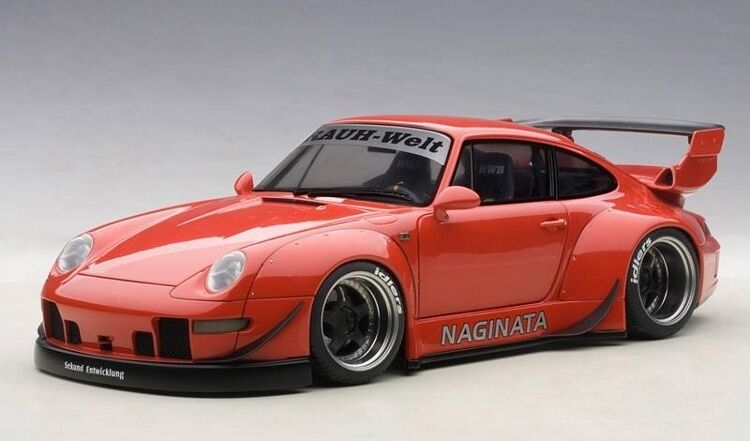 1 18 Autoart - Porsche 993 ( Rwb ) ( rojo   Gun gris Ruedas)