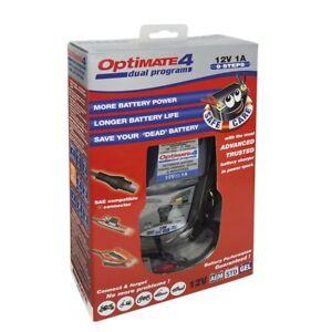chargeur moto tecmate optimate 4 dual tm 430 12v 1a pour batterie de 3 50ah ebay. Black Bedroom Furniture Sets. Home Design Ideas