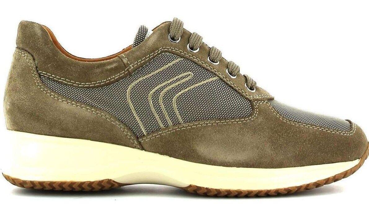 GEOX Uomo HAPPY G da - SUEDE+TEXTILE - Sand-Scarpe-Scarpe da G Ginnastica Man-Shoes Camoscio Tela c74d67