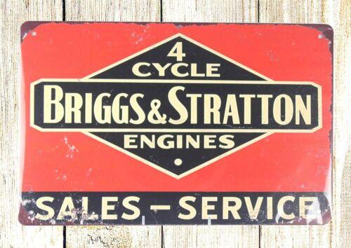 US SELLER Briggs Stratton engines garage tin metal sign home garden wall accent