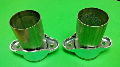 "3/"" HEADER TO 3/"" OD 409 STAINLESS 2 BOLT BALL /& SOCKET HEADER COLLECTOR REDUCERS"