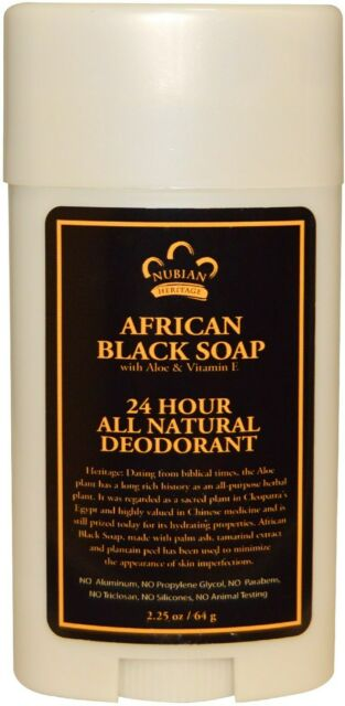 African Black Soap 24 Hour Deodorant by Nubian Heritage, 2.25 oz