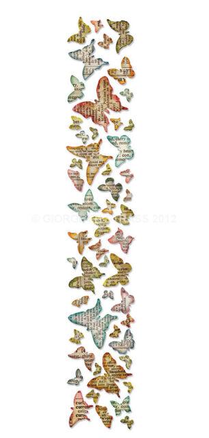 Fustella Farfalle farfalla Sizzlits bordo stripes bordi Big Shot Sizzix 659575
