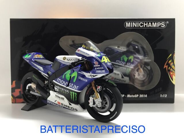 MINICHAMPS VALENTINO ROSSI 1/12 YAMAHA YZR M1 2014  MOTOGP 122143046 LIMITED ED.