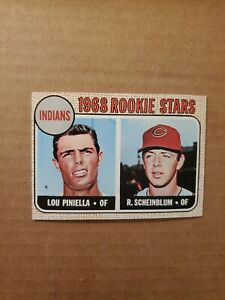1968 TOPPS #16 LOU PINIELLA ROOKIE CARD CLEVELAND INDIANS - GRADE THIS ONE!!! $$