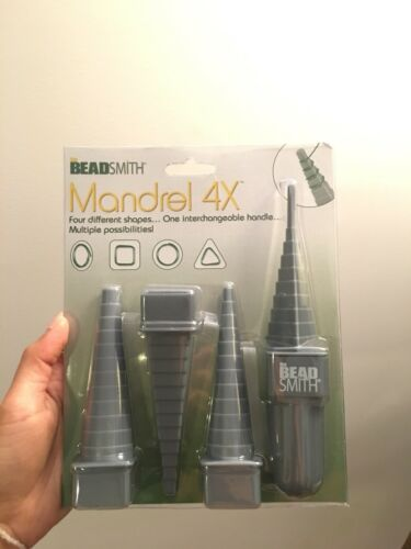 Update Version Beadsmith Multi Right Angle Wire Mandrel Looping Tool with 4 Shapes and 48 Sizes
