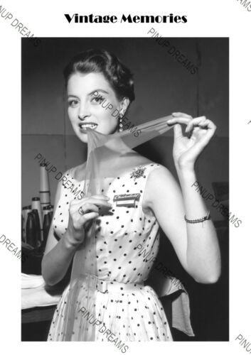 Vintage Actress Capucine in Chesterfield Nylon Stockings Advert photo shoot 1954