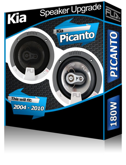 "Kia Picanto Rear Door speakers Fli 5.25"" 13cm car speaker kit 180W"