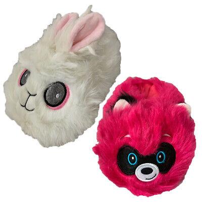 SL652 Slumberzzz Childrens//Kids Fluffy Bunny Rabbit Slippers