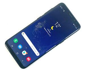 Samsung-Galaxy-s8-sm-g950f-64gb-Midnight-Black-Entsperrt-schlechter-Zustand-495