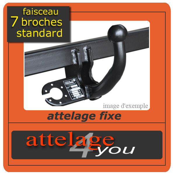 ATTELAGE fixes pour Peugeot 207 SW 2007-2013 + faisceau standard 7 broches