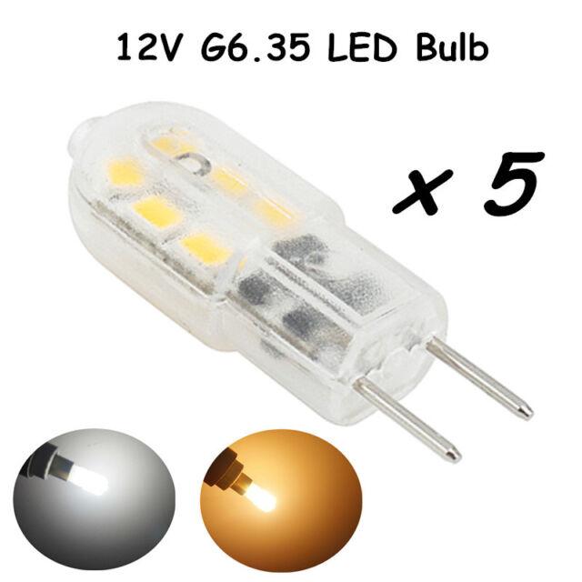 Bonlux 12V 3W G6.35 LED Light Bulb 20W Halogen Replacement CW6000K (5-Pack)