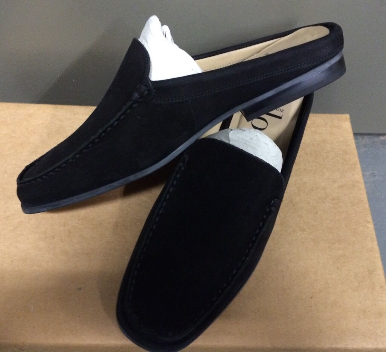 ANN TAYLOR LOFT Stephanie Black Slip On Nubuck Leather Slipper shoes size 5 1 2 M