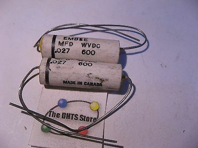 NOS Qty 4 EMBEE Ceramic Shell Capacitor .04uF 600VDC 0.04
