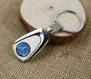 Mercedes-Benz-Metal-Chrome-Badge-Stainless-Steel-Key-Ring-Keyring-Classic-NEW-AU
