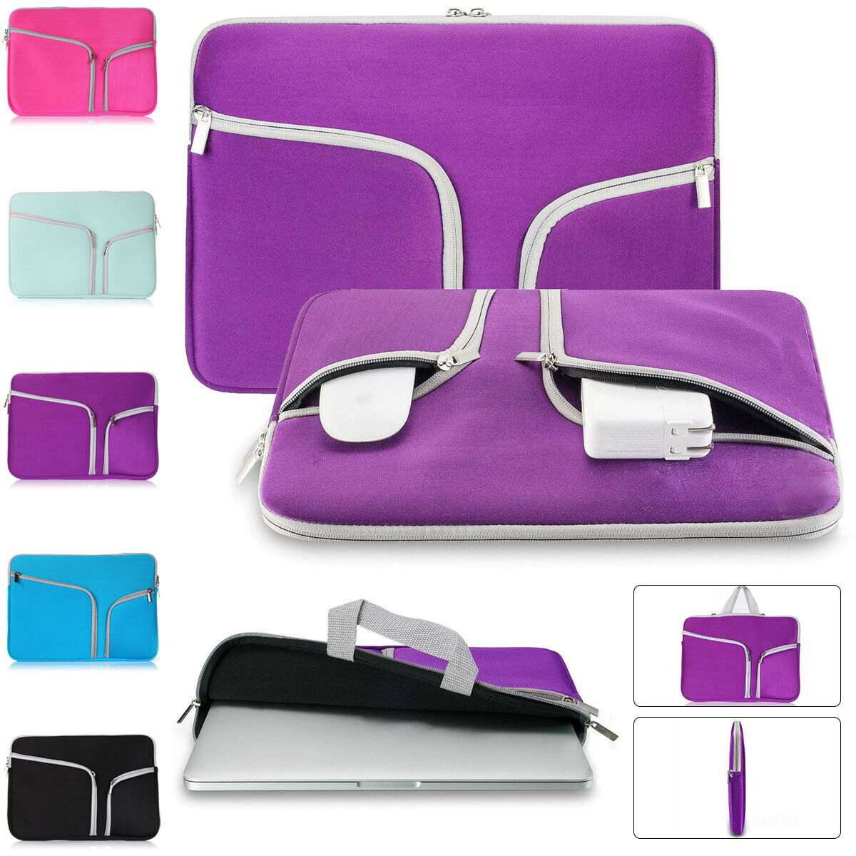 "Laptop Pouch Cover Case Carry Bag Sleeve For 11//13//15//15.6/"" Notebook Air//Pro"