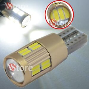 2-Veilleuses-LED-T10-ampoules-20-smd-4014-HID-Canbus-5W-BLANC-ANTI-ERREUR-Lampe