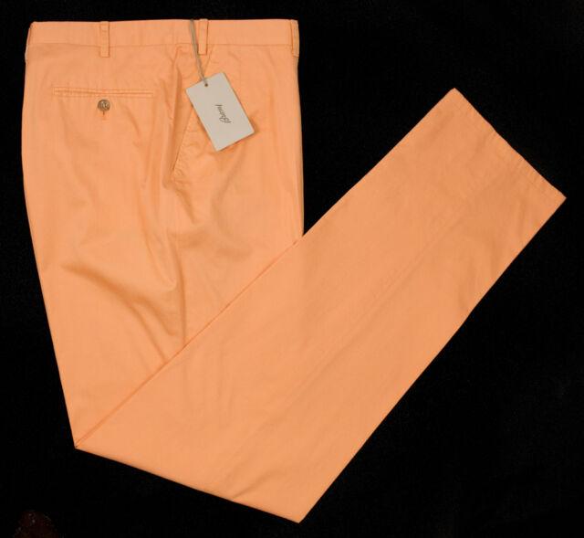 New BRIONI Moena Cotton Lightweight Orange Pants Trousers 56 40 NWT $675