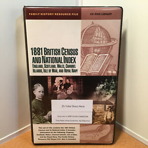 1881 BRITISH CENSUS AND NATIONAL INDEX - 25 discs PC CD ROM. Genealogy / MINT