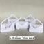 Sets of 5 Wedding Handbag Gift Bags//Favour Box /& Tag Various Colours