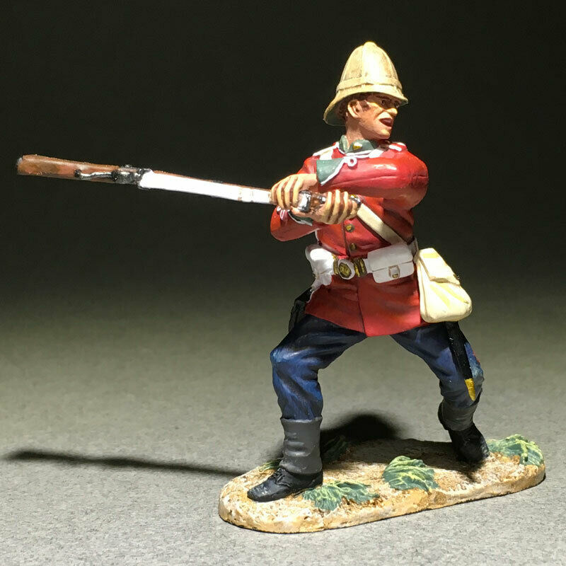 "W. BRITAIN BRITAIN BRITAIN ZULU WAR 50090C 24th FOOT SWINGING RIFLE ""B COMPANY BIFFER"" REF E d0e"