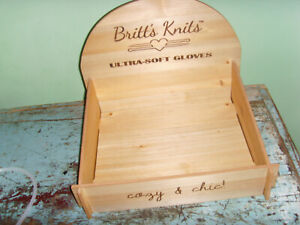 Details About Britts Knits Small Wood Display Stand Box Comes Apart For Flat Storage Wooden