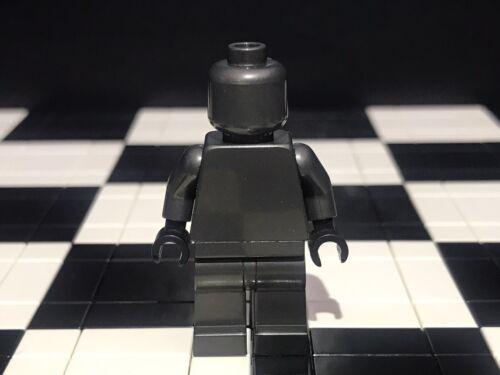 Lego Pearl Dark Gray Monochrome Minifigure With Black Hands