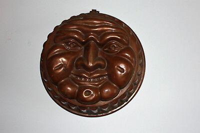158 Jahre Alte Volkskunst Memminger Mau Küchenforn Gugelhupf Kupfer Um 1860