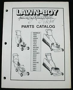 Details about Lawn Boy 1988 Mower Parts Catalog - See photo for Models on small engine diagram, briggs and stratton diagram, echo diagram,