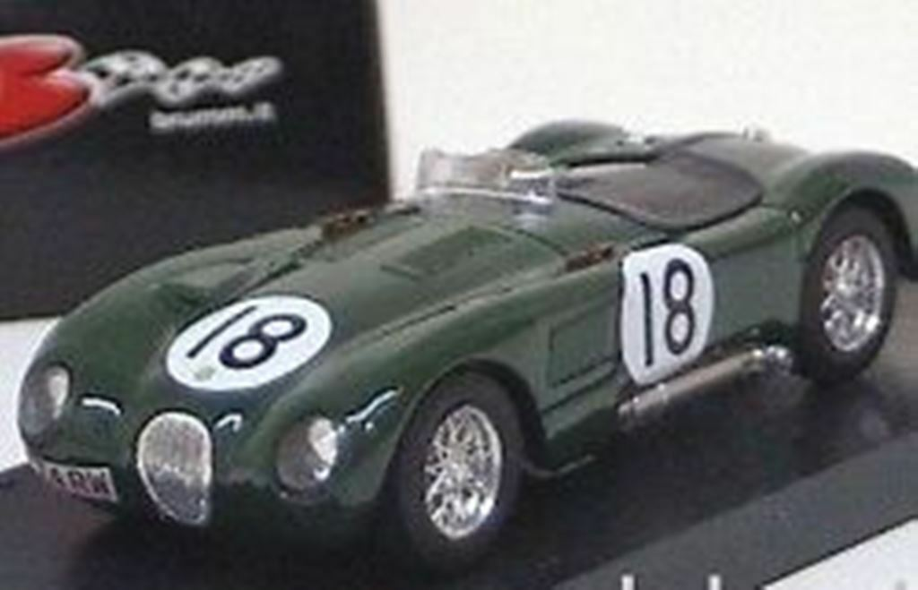 BRUMM R358 R358B JAGUAR C TYPE diecast model racing car  Le Mans 1 43rd scale