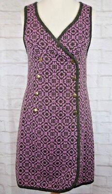 2019 Ultimo Disegno Arazzo Gallese Di Lana Rosa Vestito Sz 36 (10) Vintage Craft Centro Mid Galles Lana-mostra Il Titolo Originale