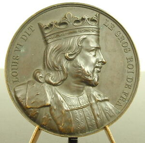 Medal-Louis-VI-le-Big-King-French-Sc-Keg-1838-the-Fat-034-French-King-Medal