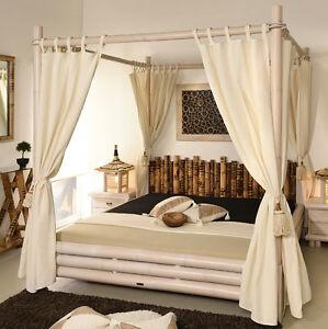 himmelbett 180x200 bangkok bettrahmen bambusbett holzbett. Black Bedroom Furniture Sets. Home Design Ideas
