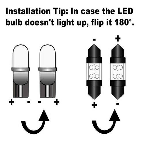 For Audi A3 8P S3 8PA 1996-2008 White LED Number Plate Light Bulbs *SALE*