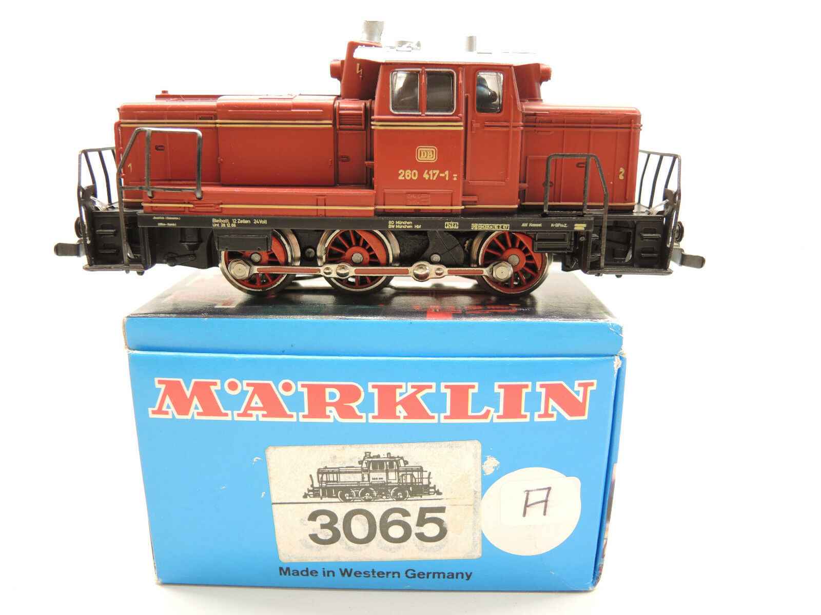 marklin 3065 DIESEL BR 260 4171 delle DB, telex, Deltadigitale, OVP A