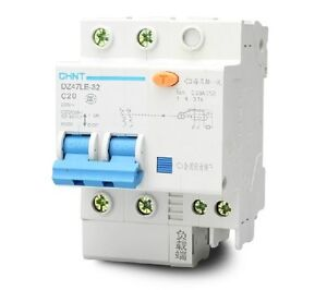 DZ47LE-1P+N C20 20A 230V Earth Leakage Protection Circuit Breaker