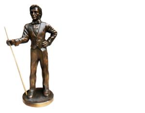 Design piscina shnooker billar personaje estatua escultura figuras esculturas decoración