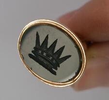 9ct oro rosa victoriana y sello FOB Colgante Bloodstone corona intalio t0740