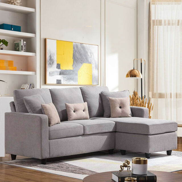 Sectional Sofa Couch L-Shaped Corner Sofa Suit for Small Space Reversible  Chaise