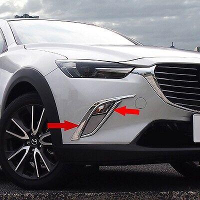 fit Mazda CX-3 2016 2017 2018 2019 Chrome Front Fog Light Lamp Cover Bezel Trim