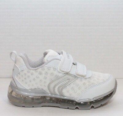 Geox Android Zapatos Niña Zapatillas de en Lona con Luces Brillante Deportivos | eBay