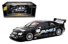 MAISTO 1:18 2002 Mercedes-Benz CLK-DTM #2 DIECAST CAR BLACK 38649-02