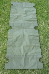 Australian-Army-Stretcher-Bed-Cot-Replacement-Fabric-Heavy-Duty-Canvas-NOS